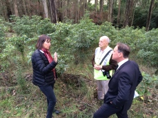 Ros Gleadow and Jeff Walker asking then Environment Minister Greg Hunt for help to control Pittosporum